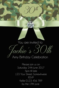 female army invitation