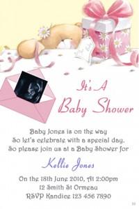 teddy baby shower invitation