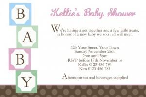 Baby Shower 20 invite