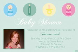 Baby Shower 7 invite