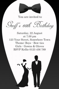 formal black and white invitation