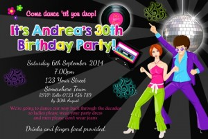 adult disco invite