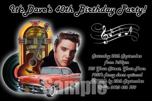 elvis and rock and roll invite