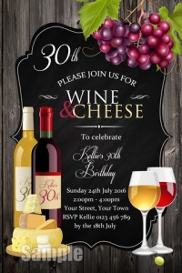 Wine and cheese invitation