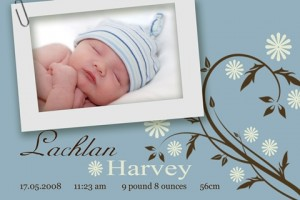Birth announcement and baby thank you