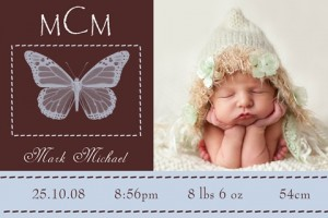 Birth announcement and thank you invite