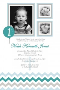 boys christening baptism invite and first birthday invitation