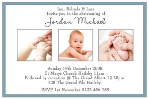 boys christening and baptism invitation