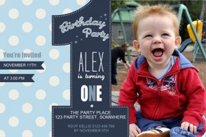 boys first birthday invitations, number one invitation, boys 1st birthday invitation