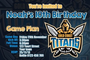 Gold Coast Titans NRL football invites