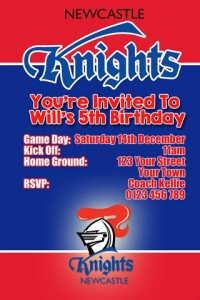 NRL knights NRL football invitation