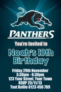 Penrith Panthers NRL football invitation